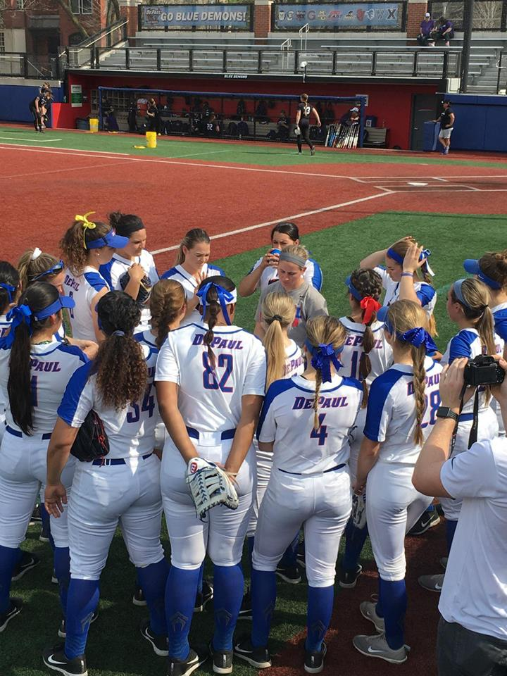 DePaul alumna makes smooth transition from student to teacher with the Blue Demons softball team