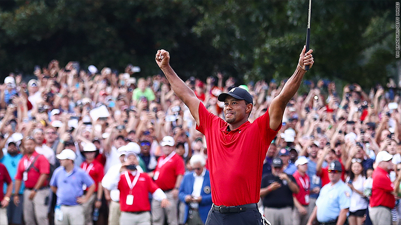 Tiger Woods is back ontop